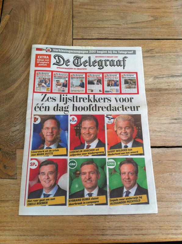 Zakkenvullers vullen krantenkolommen